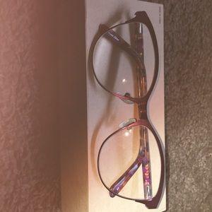 Dark Pink Round Eyeglasses